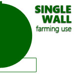Single Wall Farm Fuel Storage Tanks