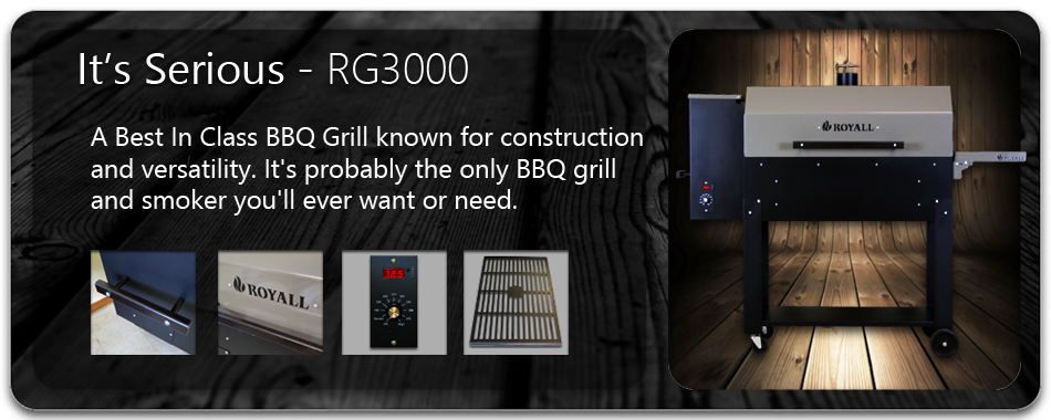 RG3000 Wood Pellet BBQ Grill and Smoker
