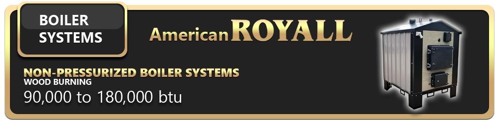 American Royall Non Pressurized Boilers